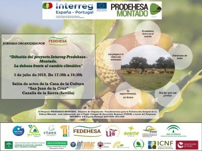 Difusión del proyecto Interreg Prodehesa - Montado.  La dehesa frente al cambio climático