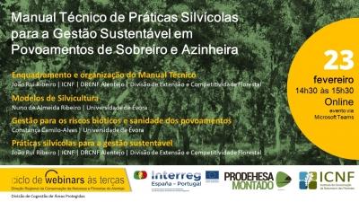 Apresentação do  Manual Técnico de Práticas Silvícolas para a Gestão Sustentável em Povoamentos de Sobreiro e Azinheira